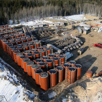 Traditional Hydraulic Fracturing Site